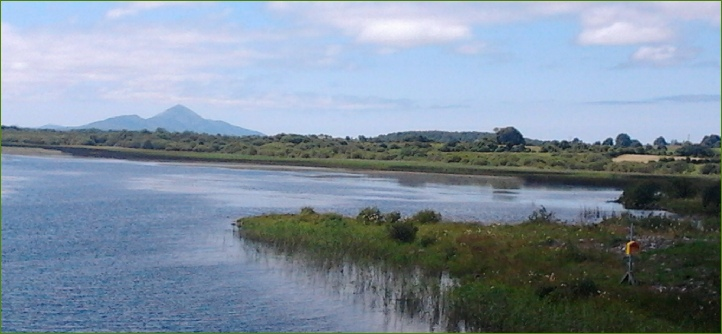 Lough Lannagh, Castlebar, Co. Mayo looking towards Croagh Patrick